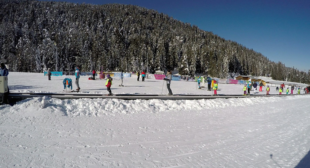 There is also a kindergarten facility for the smallest skiers