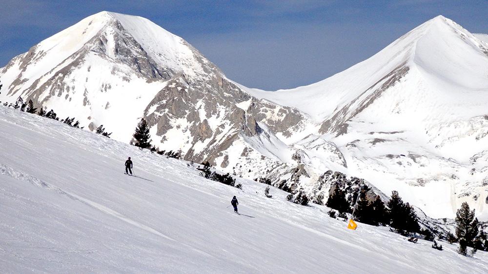Mt. Vihren (left) is the second highest peak in Bulgaria.