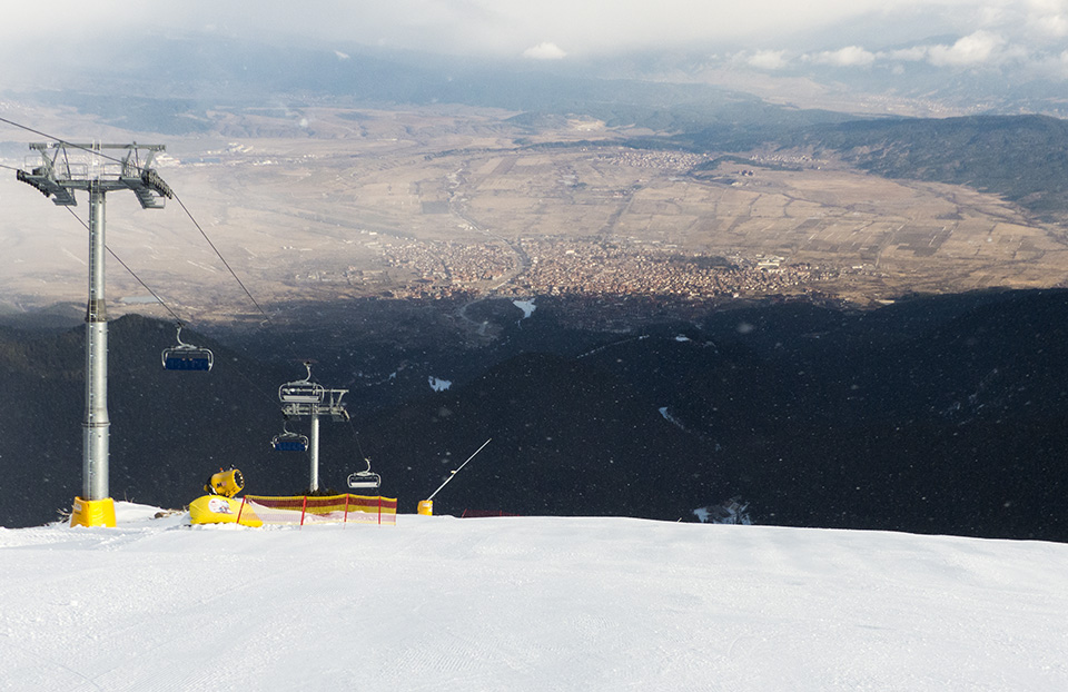 The view of Bansko from the top of the Todorka Lift.