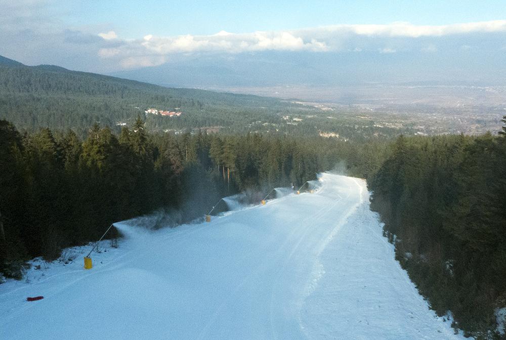 The bottom of the Chalin Valog ski area.