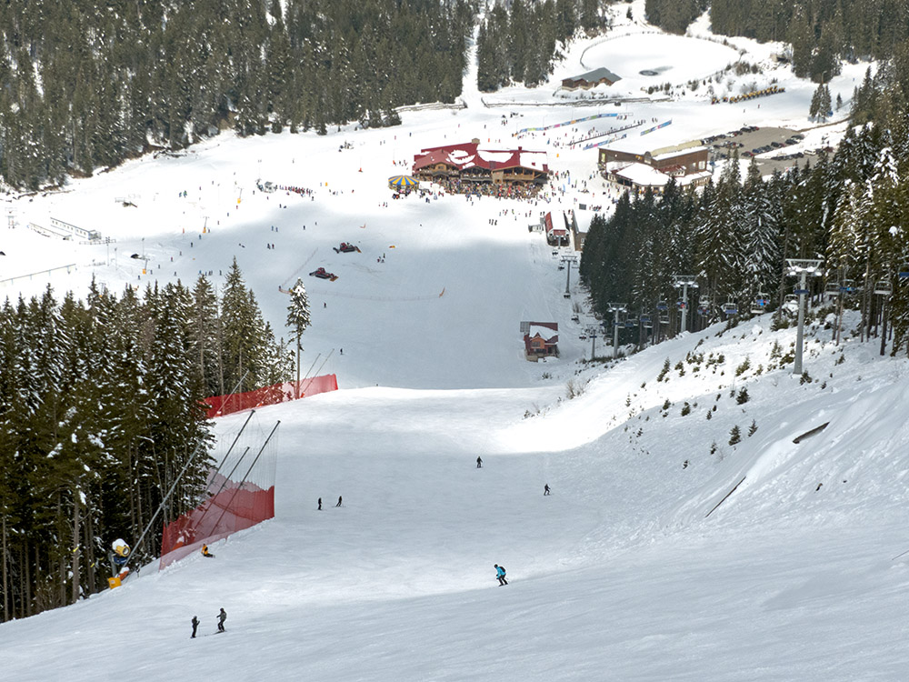 The Tomba ski run and Bunderishka Poliana