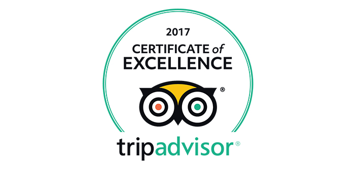 Certificate of Excellence by TripAdvisor for 2017 for Ski & Board Traventuria