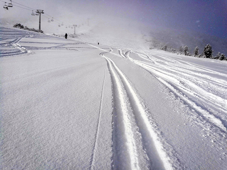 If your up early enough, you might get to do a run or two with fresh powder on the slopes.