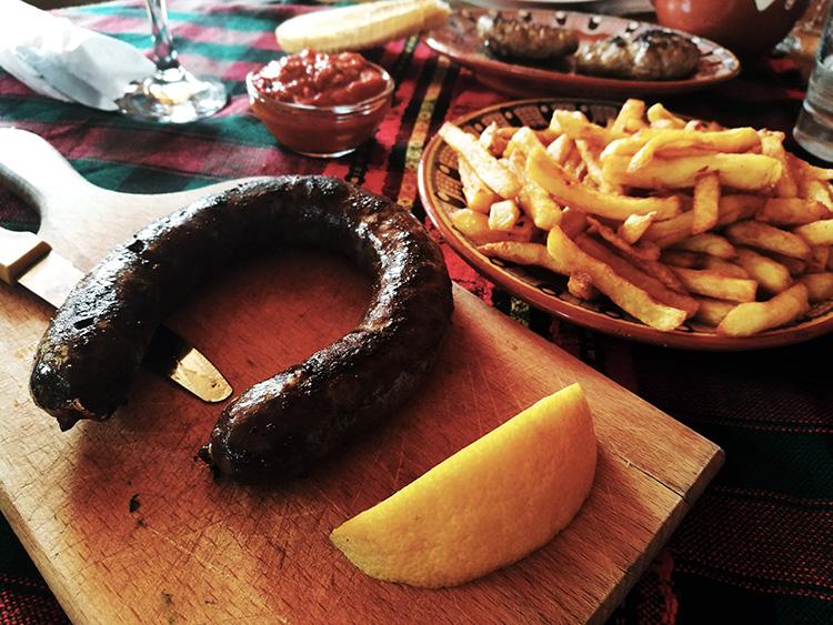 Horse sausage.