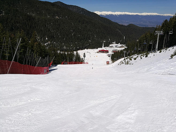 The black Tomba ski run