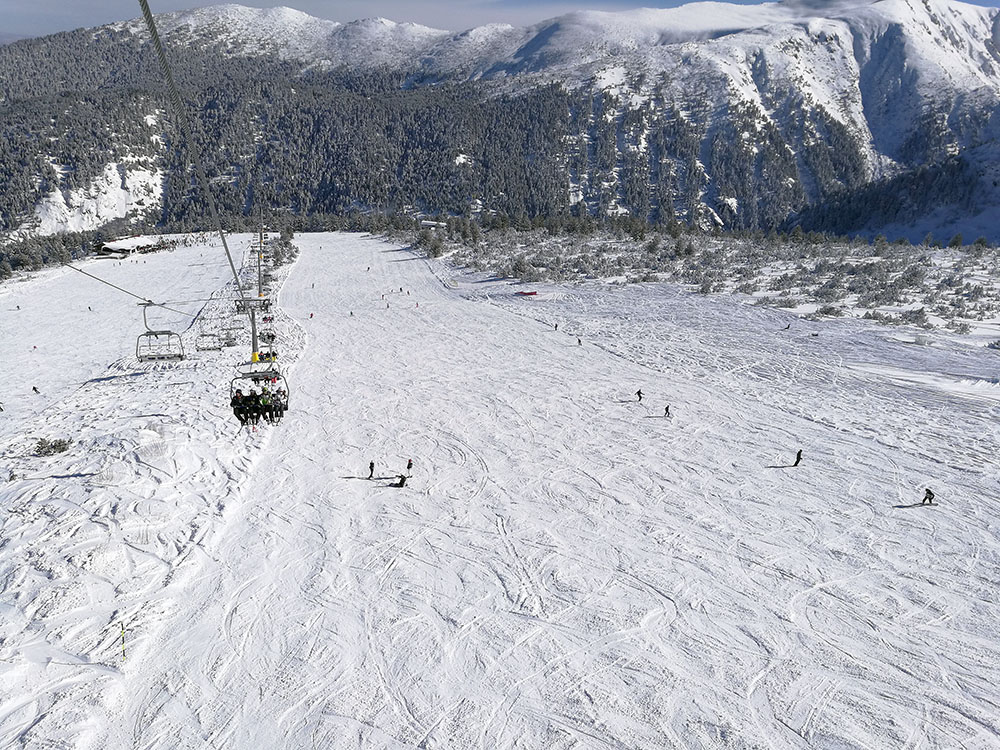 The Plato Ski area
