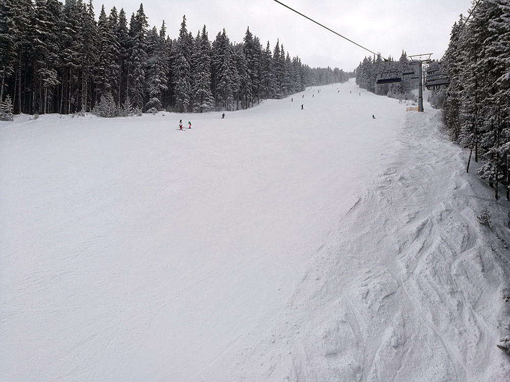 The Balkaniada ski run was almost empty today.