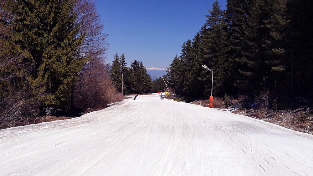 Near the end of the ski road.