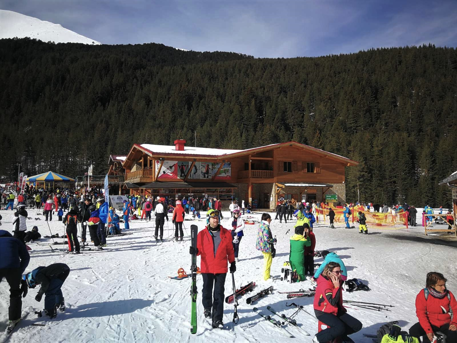 Busy slopes