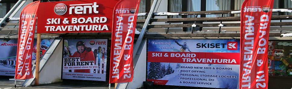Ski shop location in Borovets