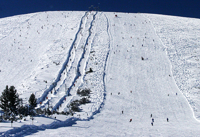 The ski drags of the Platoto area have become very popular for intermediate skiers.